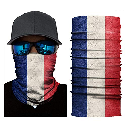 Read About DianDianwl National Flag Magic Scarf Men Cycling Motorcycle Balaclava Head Scarves Outdoo...