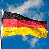 Bandera de Alemania 150x 90cm, con Ojales metálicos de Bandera de Alemania, Color Negro, Rojo y Dorado