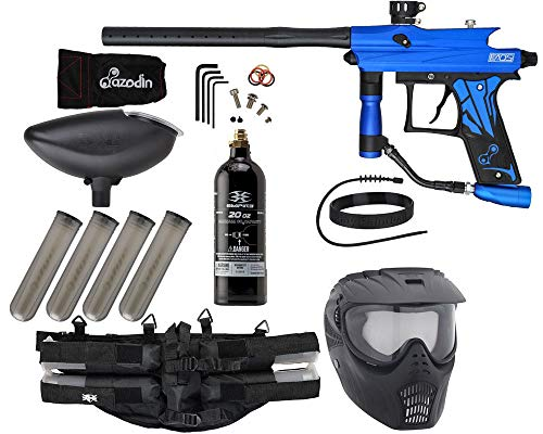 Action Village Azodin KAOS 3 Paintball Gun Epic Package Kit (Dust Blue with Dust Black Parts)