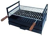 Caldereria Artesana 9461 - Barbacoa Carbón Leña Mesa 600x400x320mm