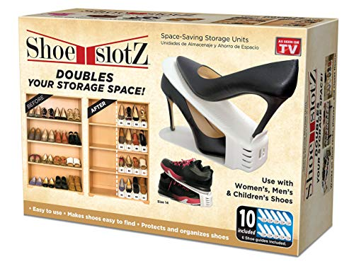 Shoe Slotz Space-Saving Storage Units in Ivory   As Seen on TV   No Assembly Required   Limited Edition Price Club Value Pack, 10 Piece Set (1)