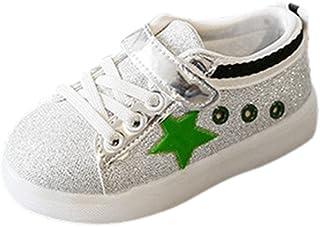 [Tovadoo] 子供靴 マジックテープ 星柄 合皮製アッパー ゴム製靴裏 四季通用 滑り止め 履きやすい つま先保護 可愛い 通学 旅行 女の子 男の子 キッズ 13-18cm