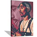 Celebrity Tupac wall paintings for room decor poster print on canvas decorations living room wall art Frame-X1 16×24inchs(40×60cm)