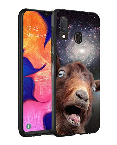 ZOXOHO for Galaxy A20 Case, Galaxy A30 Case, Slim Anti-Scratch Flexible Shock Absorbent Silicone Protective Case Cover for Samsung Galaxy A20 (2019) / A30 (2019) - Funny Space Goat