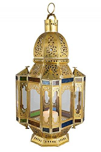 Orientalische Marokkanische Messing Glas Laterne Standlaterne Moulati