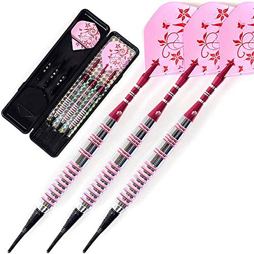 HDXLI Darts, Soft Dart Darts, Elektronischer Dartanzug, 3-TLG. Set Pink Flower 17 Gramm Darts, Soft Dartpfeile Mit Eisenpfeilen Professionelle Darts Set Safety Indoor Sport Game
