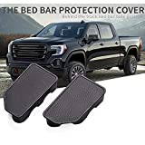 DSparts 2 Packs Bed Rail Hole Plugs Bed Rail Stake Pocket Cover Fit for Chevy Silverado GMC Sierra Pickup (2014-2018)