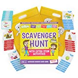 Scavenger Hunt Game for Kids - Outdoor Activities for Kids Ages 4-8 - Card Based Camping Games - Indoor Family Fun with STEM Activities for Kids - Nature Seek & Find It Game