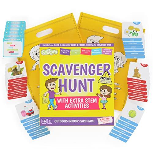 Scavenger Hunt Game for Kids. GoTrovo Seek'n'Build Indoor Outdoor Find It Game