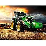 MAIYOUWENG Erwachsenenpuzzle 1000 Teile Holzpuzzle Traktor Farm Für Jugendliche Und Erwachsene, Sehr Gutes Lernspiel