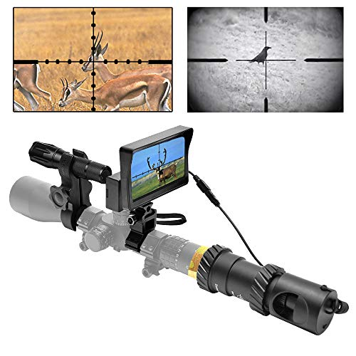 RHYTHMARTS [Upgrade] DIY Digital Night Vision Monoculars for Riflescope with 5inch Screen and IR Flashlight Outdoor Hunting