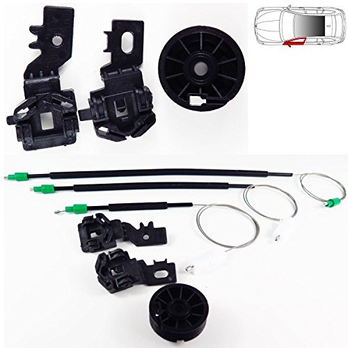 Kit lève-vitre adaptable devant gauche avec cables clips et poulie