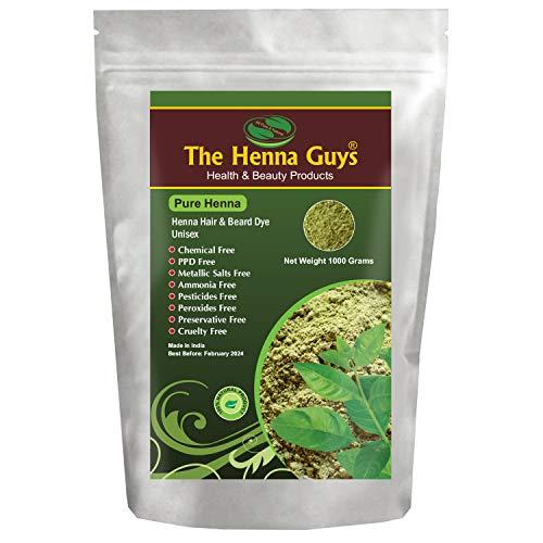 100% reines Henna Pulver für Haarfärbemittel - rote Henna Haarfarbe, beste rote Henna für Haar - die Henna Jungs (1000 grams, Pure Henna)