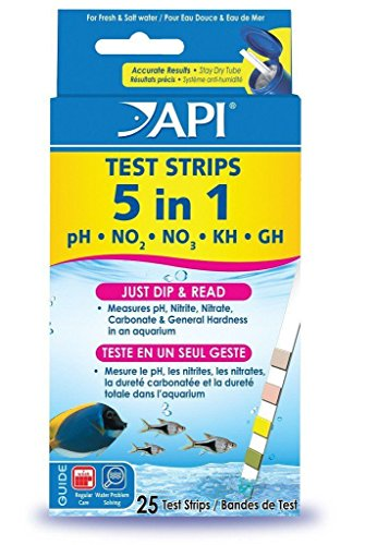 API 5 in 1 Aquarium Test Strips 25 Count