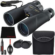 Nikon 10x50 ProStaff 5 Waterproof/Fogproof Binoculars (Black) Bundle + Microfiber Cloth + Lens Pen & Blower (Model #7572)