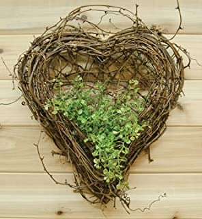 Natural Grapevine Wall Heart Country Primitive Floral Décor