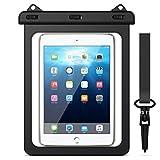 Yokata Funda Bolsa Impermeable para Tablets, Universal Waterproof Actividades al Aire Libre Se Ajusta para iPad 2/3/4, iPad Pro 9.7, Samsung Galaxy Tab A 9.7, y Otros Teléfonos Inteligentes - Negro
