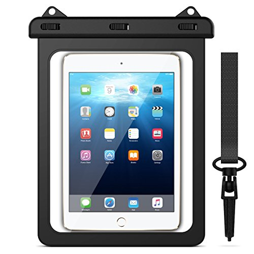 Yokata Black Universal Waterproof Bag, iPad Tablet Case (8.1''- 11.5'' inch) with Adjustable Neck Strasp Water Resistant Outdoor Protective Case for iPad, Samsung etc (8.1 inch - 11.5 inch)