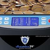 Münzzähler & -sortierer Geldzählmaschine Euro Münzen Geldzähler Münzzählautomat Professional Securina24® (schwarz) - 2