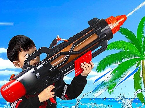 GZ Große Luftdruckbereich Schuss Luftpistole Sommer Strand Spritzwasser Set Spielzeug,Rot