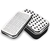 Allnice Cheese Grater, Stainless Steel Grater with Food Storage Container and Lid, Versatile Kitchen Gadget for Cheese Parmesan Ginger Vegetable Chocolate Butter