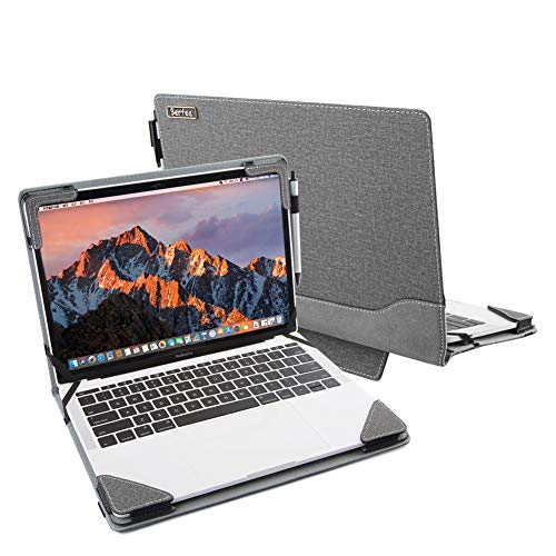 Berfea Funda con función atril compatible con Lenovo Thinkbook 15, 14, 14s, 14s Yoga, 14 G2, 13s Laptop.