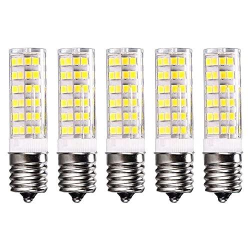 Gmasuber Bombilla LED E17 de 7 W, base intermedia, para microondas, horno, nevera, luz blanca, paquete de 5