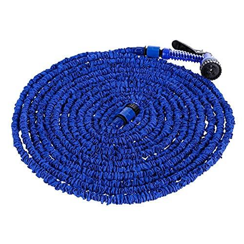 BSDIHRIWEJFHSIE Manguera telescópica Artefacto Extensible Natural para el Agua Las Flores Suministros de jardinería Manguera de riego-Azul
