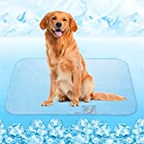 Dog Cooling Mat, Rywell Self Cooling Pads for Large Dogs, Arc-Chill Q-Max>0.4 Reusable Summer Pet Ice Cool Bed with Super Absorption, Machine Washable & Portable, Home & Travel - XL (32×44'') - Blue