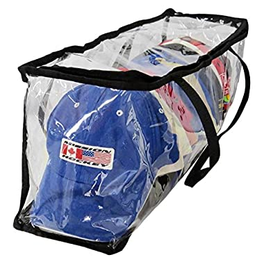 Evelots Baseball Cap Storage Bag Zipper Organizer