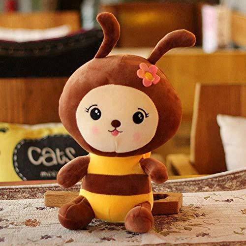 INGFBDS Cute Little Bee Doll Cute Bee Cute Stuffed Stuffed Sleeping Pillow Cumpleaños - Regalo - Niña - Grande 25Cm