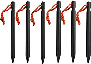 6pcs Tent Pegs Stakes Accessories of ground Equipment Tent Piles Nail for Outdoor Camping Traveling Hiking