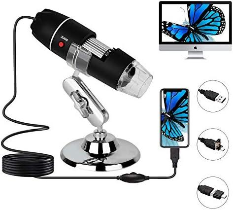 USB Digital Microscope 40x to 1000x Magnification Microscope 8 LED Handheld Magnification endoscopic product image