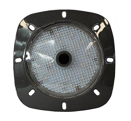 Paradies Pool LED Magnetscheinwerfer weiß, Garten- und Poolbeleuchtung, ideal für Stahlwandbecken, Akkuscheinwerfer mit 18 LEDs, Menge: 1 Stück