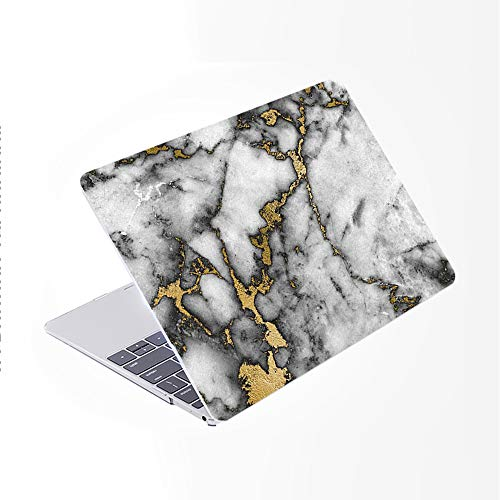 SDH Only Compatible Older MacBook Pro 13 Inch Case Model A1278 CD-ROM Early 2012-2008 Release, Plastic Pattern Hard Shell & Laptop Sleeve Bag & Gradient Keyboard Cover, Marble Figure 12