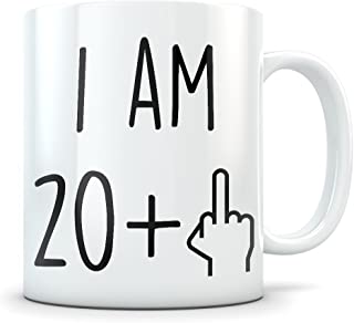 Funny 21st Birthday Gift for Women and Men - Turning 21 Years Old Happy Bday Coffee Mug - Gag Party Cup Idea as a Joke Celebration - Best Twenty One Adult Birthday Presents