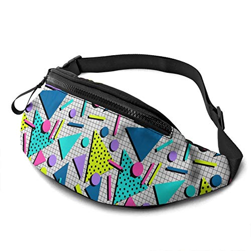 Retro 80s Memphis Graphic Fanny Pack for Adults