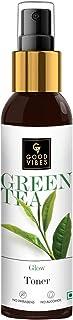 Good Vibes Green Tea Glow Toner 120 ml, Hydrating Purifying Anti Acne Moisturizing Revitalizing Facial Spray Toner for All...