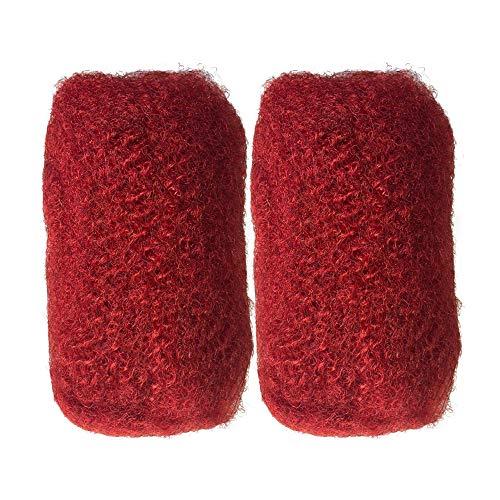 Tight Afro Kinky Human Hair bulk for dreadlocks or Twist Braids,2pieces per Bundles,1 oz each one (8