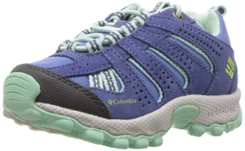 Columbia Childrens North Plains, Chaussures Multisport Outdoor Garçon Fille, Bleu (Medieval, Spring Yellow 570), 25 EU