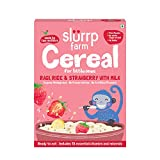 Slurrp Farm Organic Baby Cereal, Ragi, Rice and Strawberry with Milk, Instant Healthy Wholesome Food