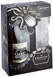 Kraken Black Spiced Rum Geschenkset mit schwarzem Cocktail Glas (1 x 0.7 l) -