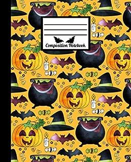 Composition Notebook: Halloween Pumpkin - Original and Eye-Catching Halloween Mood. Cute Wide Ruled Paper Notebook Journal.