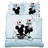 Mickey Minnie The End Bettwäsche - Bettbezug 200 x 200 -