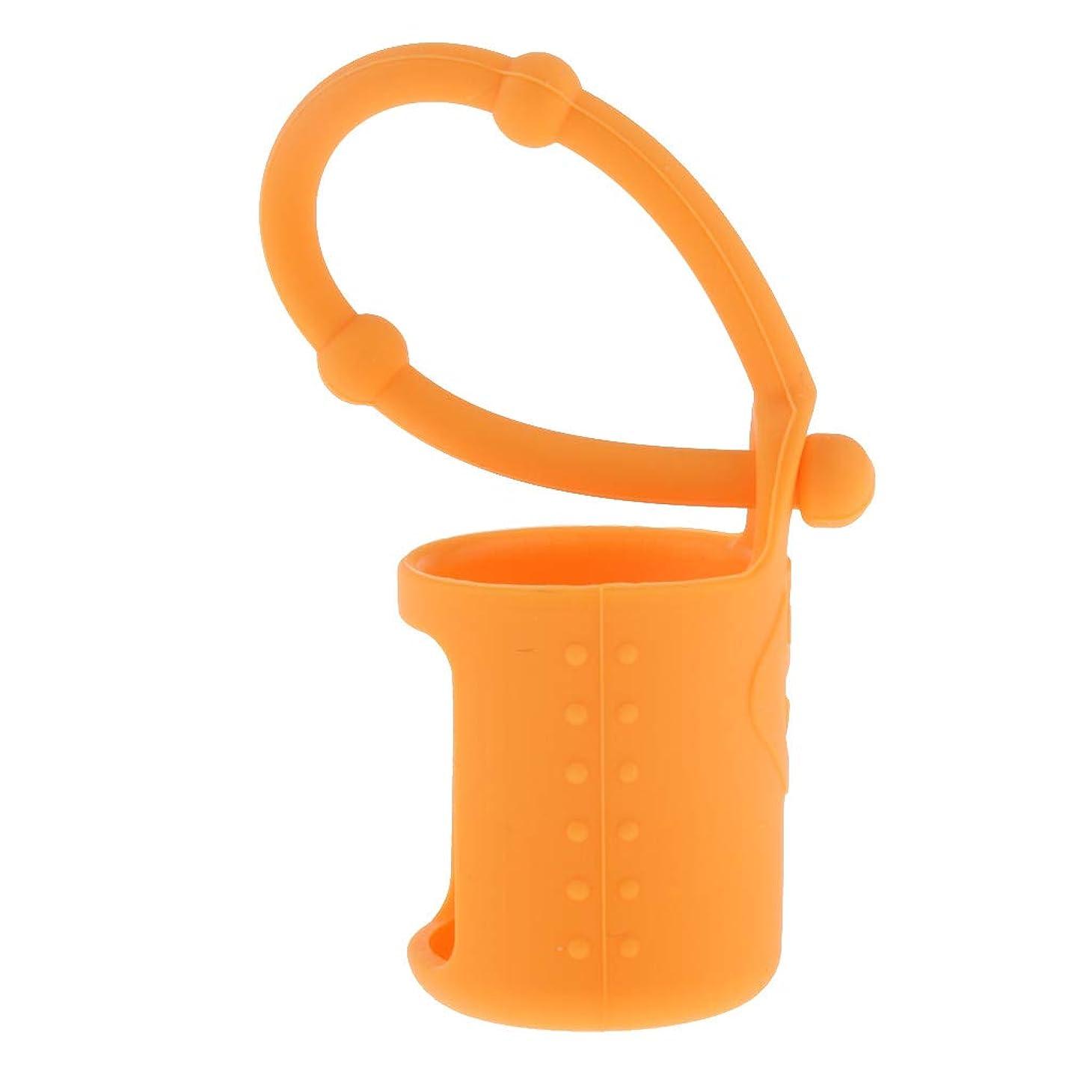 検査等しいプレゼントchiwanji 6色選べ シリコーン ローラーボトルホルダー エッセンシャルオイル キャリングケース 5ml - オレンジ