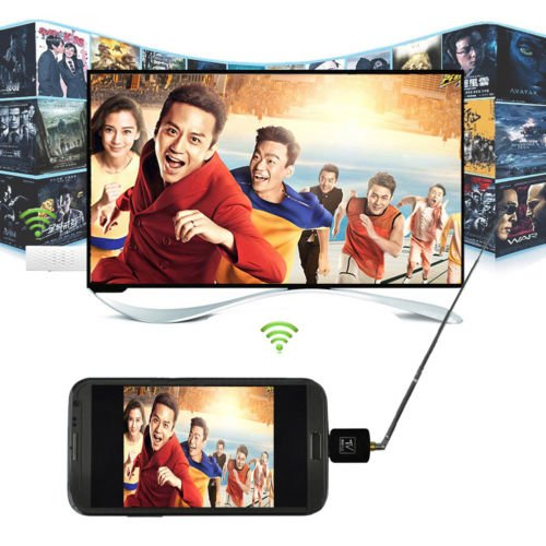 Mini Digital DVB-T Micro USB Mobile HD TV Tuner Stick Receiver for Android phone