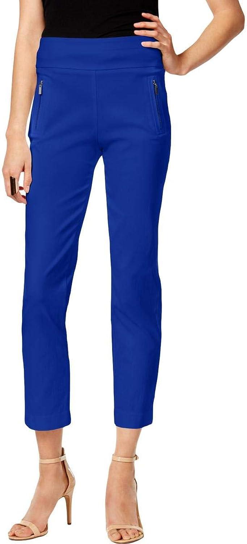 INC Womens Petites Cropped Regular Fit Skinny Pants bluee 6P