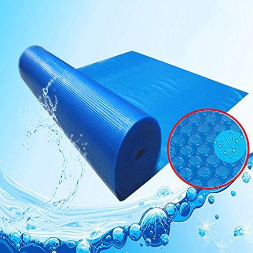 Cubierta de Manta Solar Flotante de Agua para Piscinas Rectangulares, Cubierta Térmica de Bañera de Hidromasaje, Antipolvo, a Prueba de Lluvia, Azul, Fácil de Enrollar ( Size : 4.5x3m )