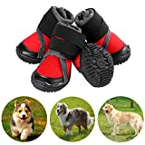 Petilleur Breathable Dog Hiking Shoes for Hot, Ice & Sharp Pavement Pet Paws