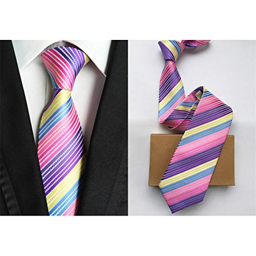 DYDONGWL Nekbanden, Effen Mens Ties Neck Ties 8cm Zijden s Ties voor Heren Bruiloft Pak Jurk Blauw Rood Paars Zilver Beige Neckties voor Man